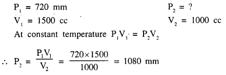 New Simplified Chemistry Class 9 ICSE Solutions - Study of The First Element - Study of Gas Laws 11