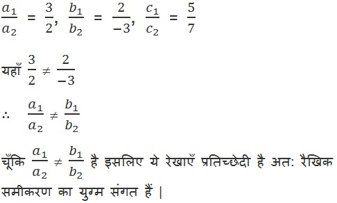 CBSE NCERT Maths Solutions For Class 10 Hindi Medium Pairs of Linear Equations in Two Variables (Hindi Medium) 3.2 12