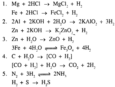 New Simplified Chemistry Class 9 ICSE Solutions - Study of The First Element - Hydrogen 14.3