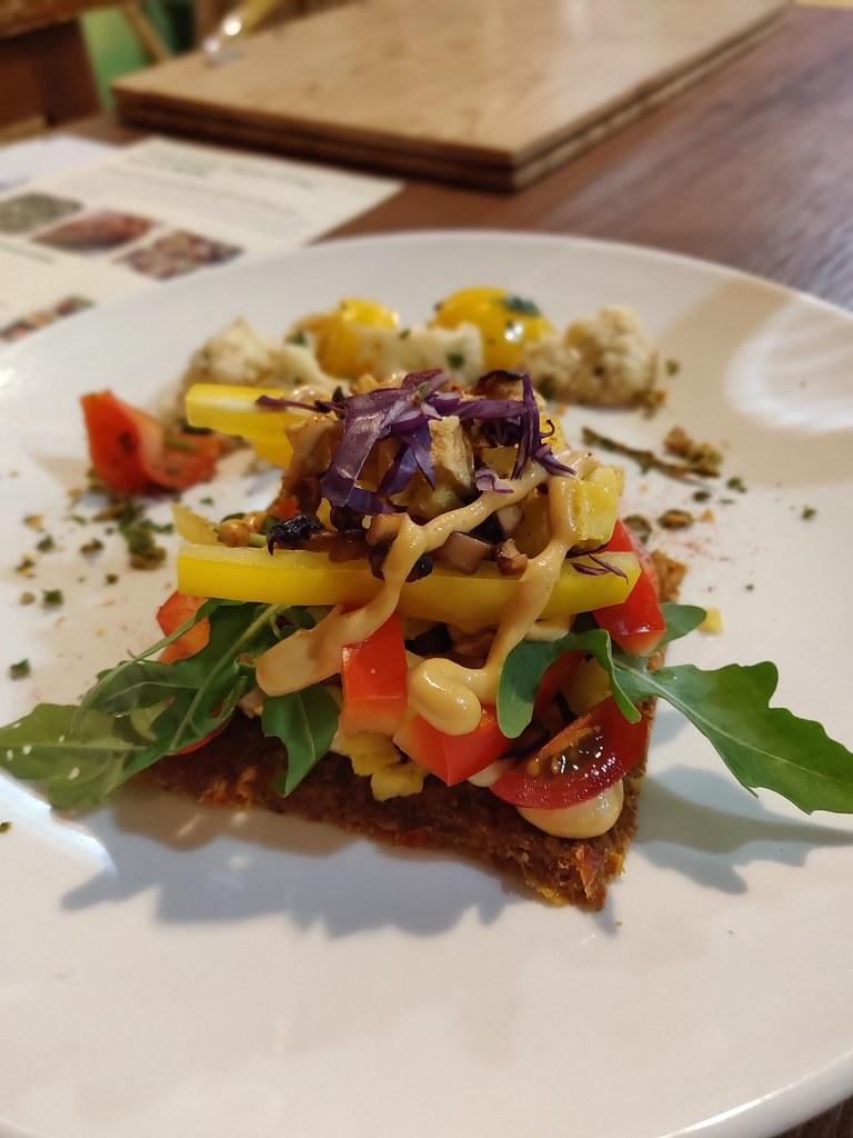Vegan Buckwheat Pizza Greenwoods Raw Cafe TST Hong Kong
