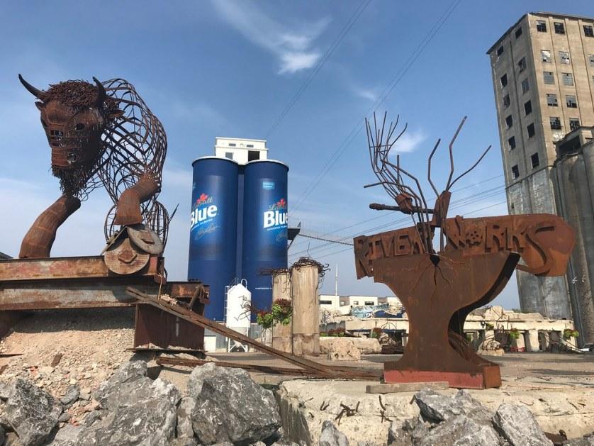 Buffalo RiverWorks, the Old Grain Silos, Buffalo, N.Y., Aug. 15, 2018