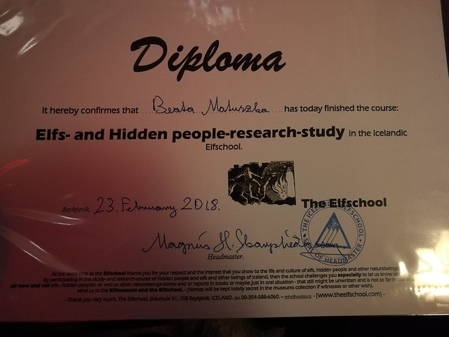 Diploma from elf school
