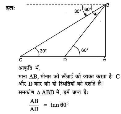 UP Board Solutions for Class 10 Maths Chapter 9 Some Applications of Trigonometry 15
