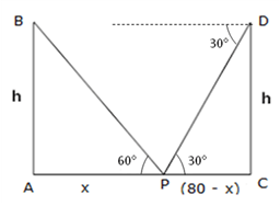 RS Aggarwal Solutions Class 10 Chapter 14 Height and Distance Ex 14a 20