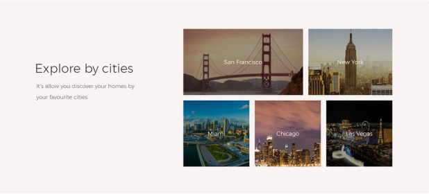 explore homes or properities by city