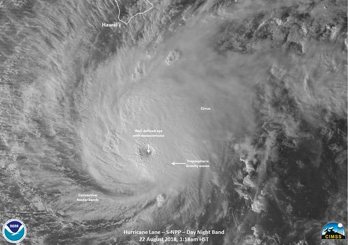 NASA-NOAA's Suomi NPP Satellite Views Category 5 Hurricane Lane