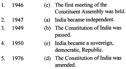 The Trail History and Civics for Class 7 ICSE Solutions