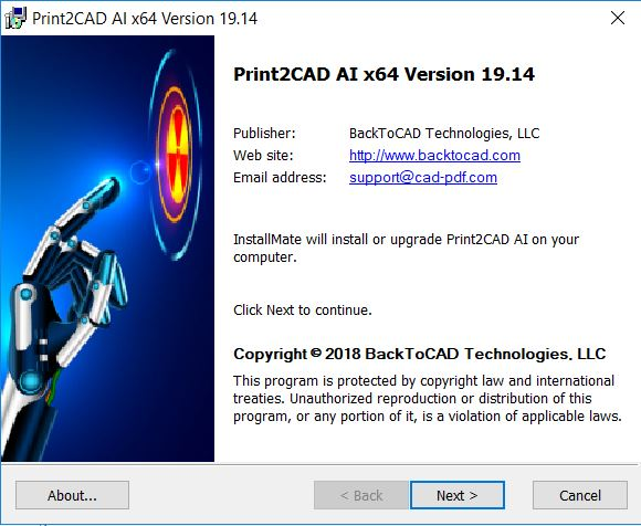 Print2CAD 2018 v19.14 x64 full license