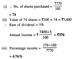 Selina Concise Mathematics Class 10 ICSE Solutions Chapter 3 Shares and Dividend Ex 3A 8