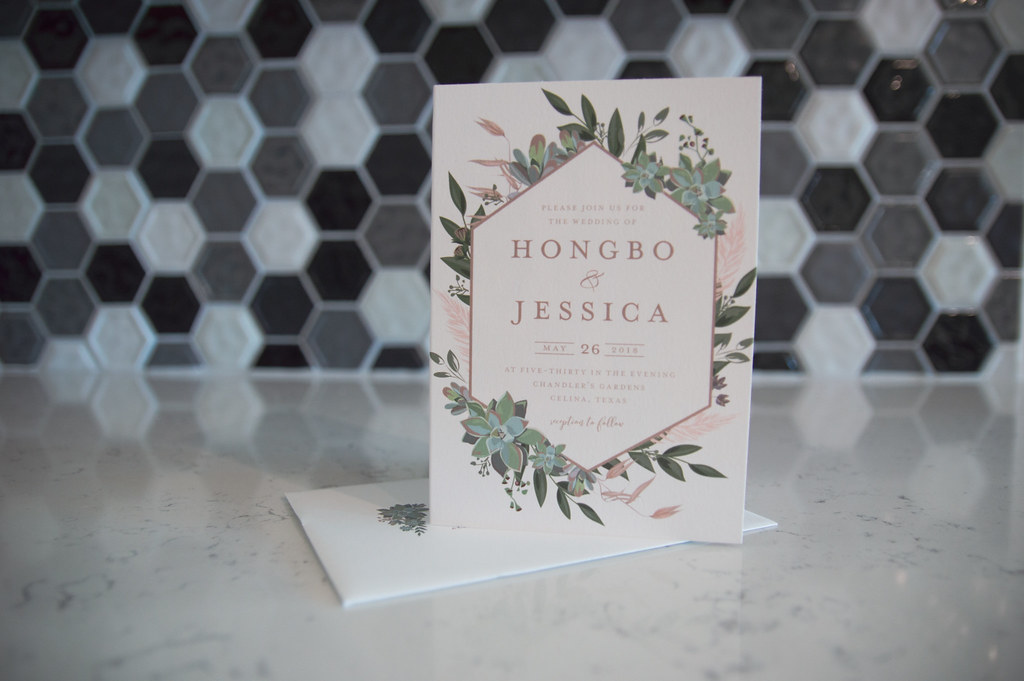 Review Four Panel Wedding Invitations From Minted For The Liang Run
