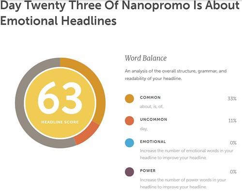Day 23 #NaNoProMo Emotional Headlines @JLenniDorner 1