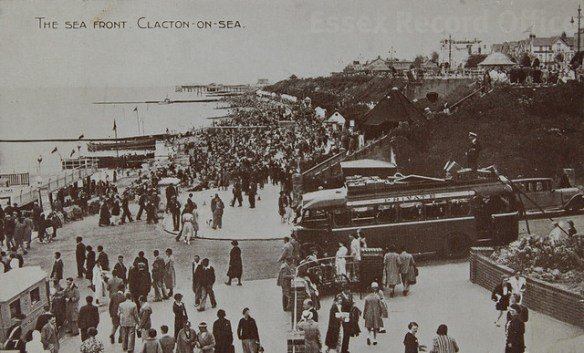 Clacton-on-Sea in old postcards
