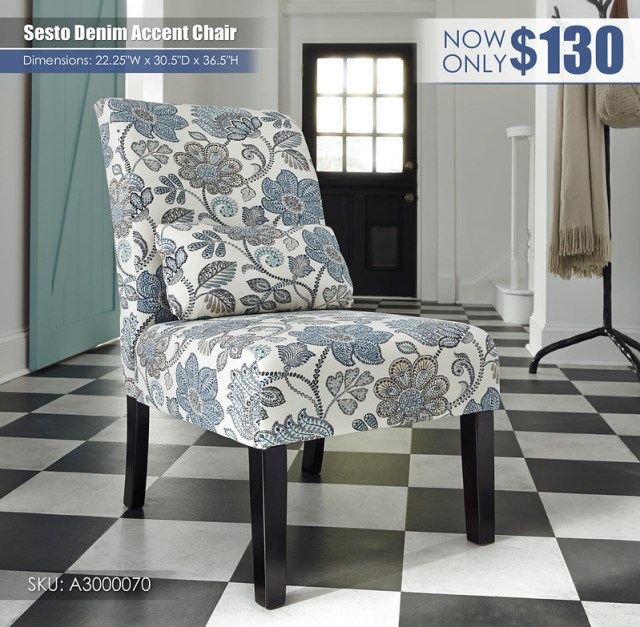 Sesto Denim Accent Chair_A3000070