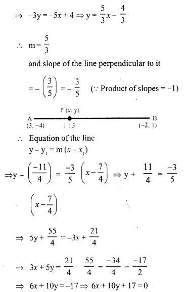 Selina Concise Mathematics Class 10 ICSE Solutions Chapter 14 Equation of a Line Ex 14E 2.1