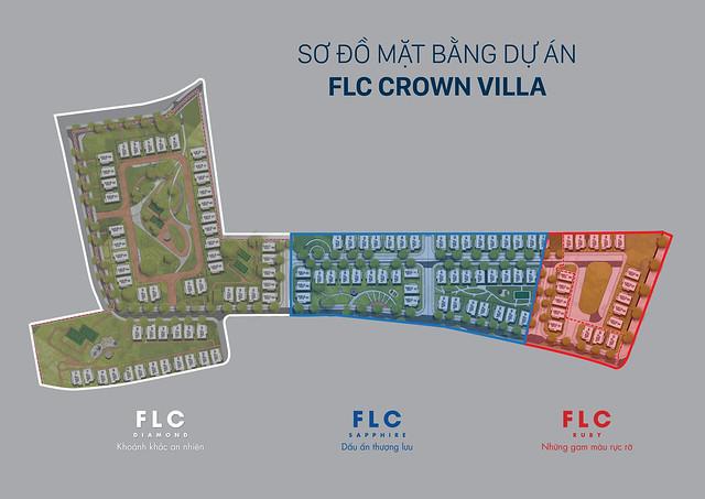 Mặt bằng các căn dự án FLC Crown Villa Quy Nhơn