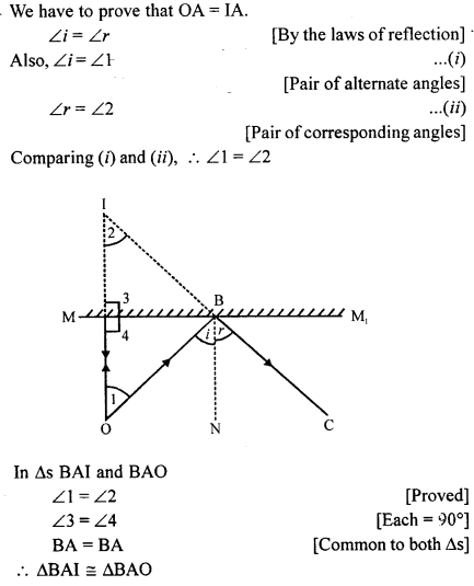 A New Approach to ICSE Physics Part 1 Class 9 Solutions Light 19