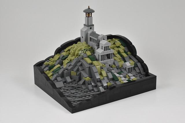 LEGO Killer Croc temple microscale crocodile