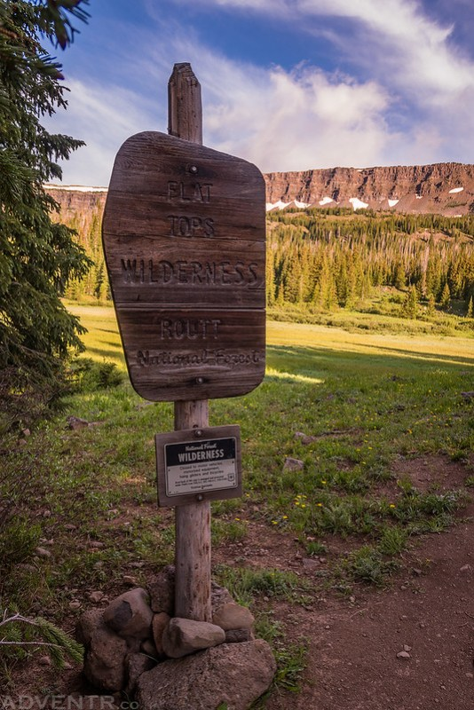 Flat Tops Wilderness Sign
