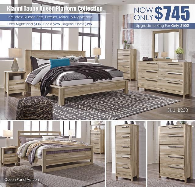 Kianni Taupe Platform Queen Bedroom Set_B230-31-36-46-58-56-95-91-Q293_KU