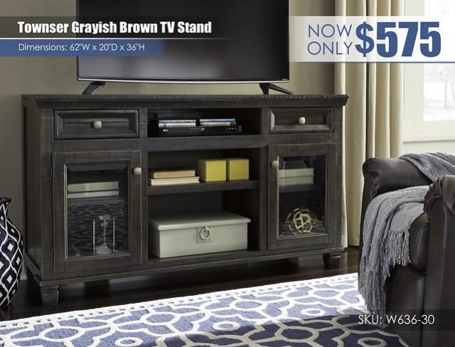 Townser Grayish Brown TV Stand_W636-30
