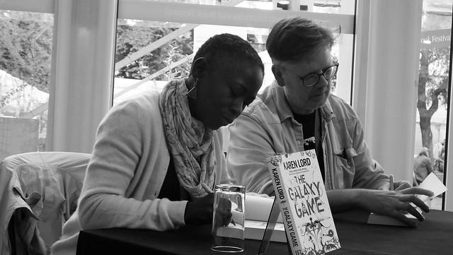 Edinburgh International Book Festival 2018 - Karen Lord and Paul Magrs 02