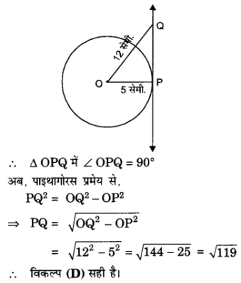 UP Board Solutions for Class 10 Maths Chapter 10 Circles(वृत्त)