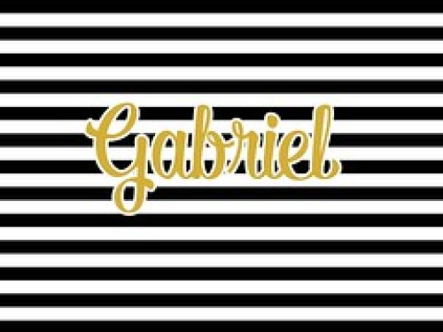 Pattern - Black White Gold