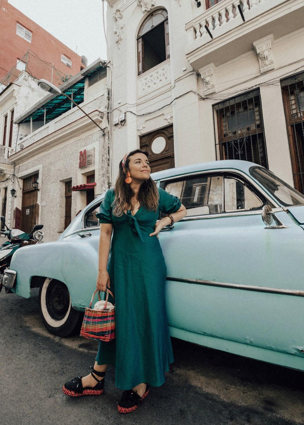 la habana-outfit-vestido-verde-lino-look-streetstyle-cuba