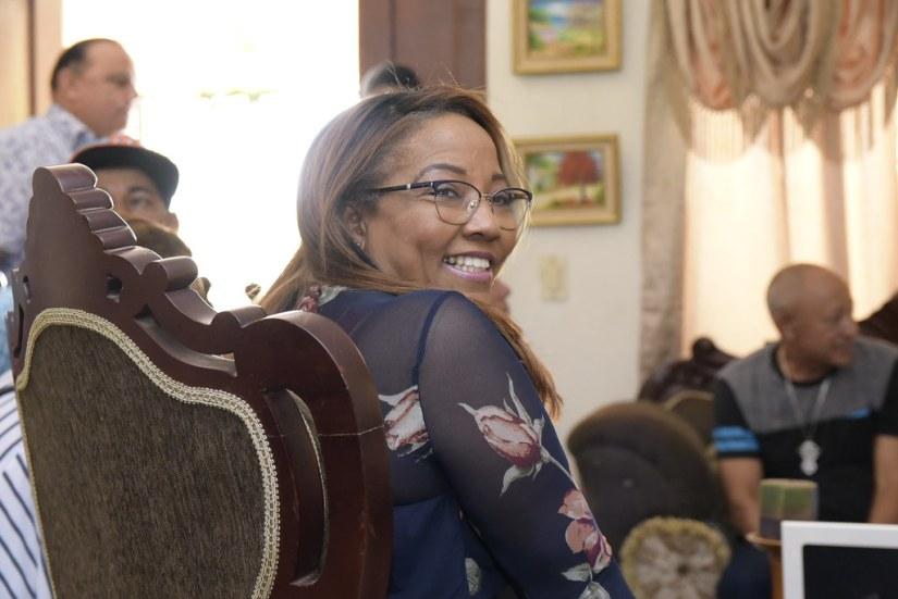 Visita a la casa del compañero Olmedo Acosta en Valverde Mao, 10 agosto del 2018