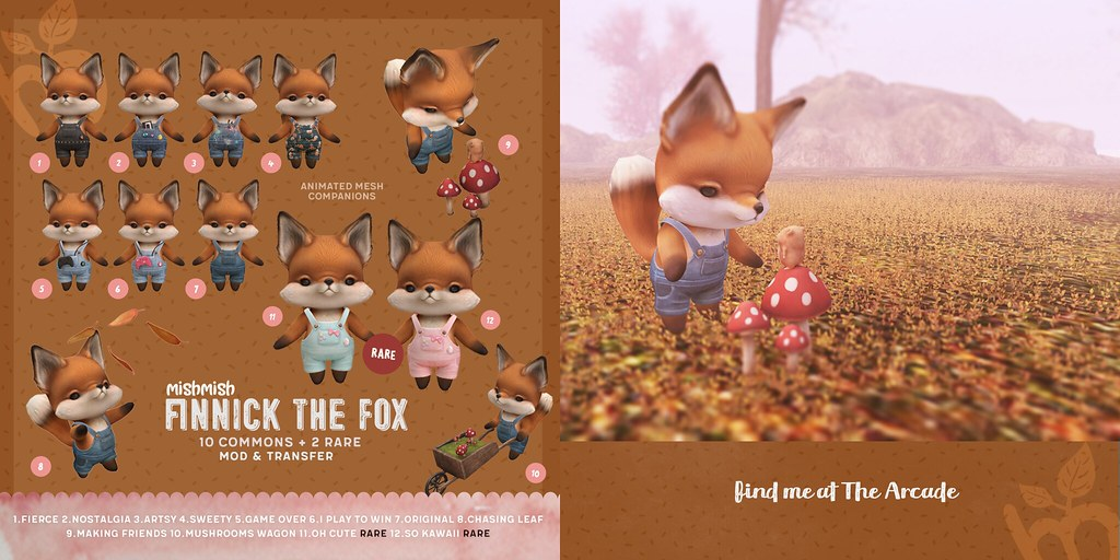 Finnick The Fox for The Arcade