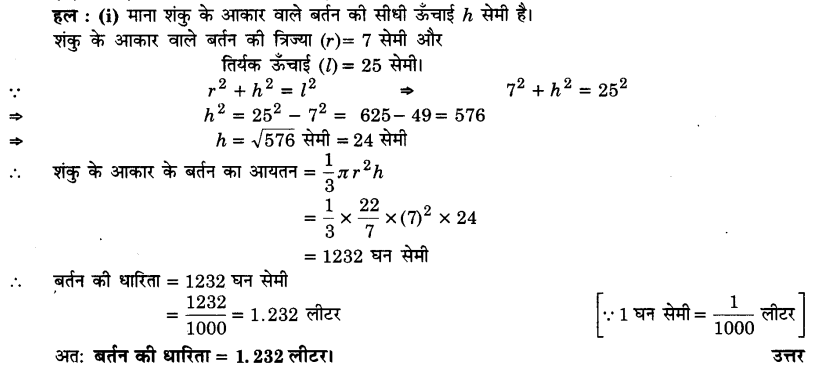 UP Board Solutions for Class 9 Maths Chapter 13 Surface Areas and Volumes 13.7 2
