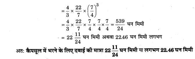 NCERT Solutions for Class 9 Maths Chapter 13 Surface Areas and Volumes (Hindi Medium) 13.8 10.1