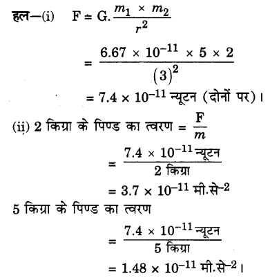 UP Board Solutions for Class 9 Science Chapter 10 Gravitation A 9