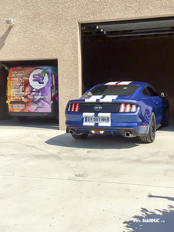 Sudetic bandes blanches Ford Mustang