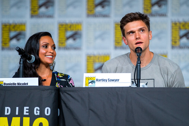 Danielle Nicolet and Hartley Sawyer