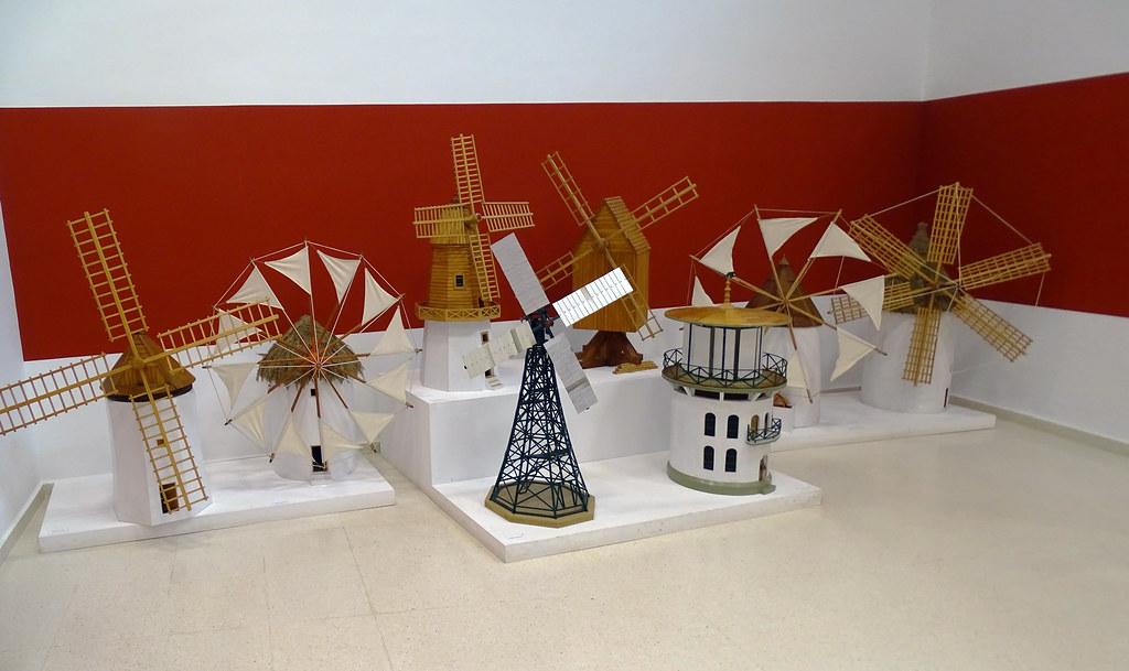 Tipos de Molinos maquetas Severiano Lucas Sala Almagre Museo Eloy Teno Campo de Criptana Ciudad Real