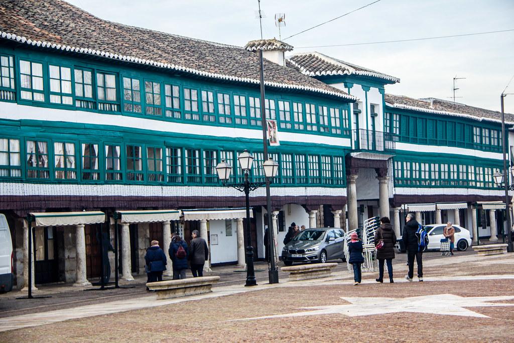 fachada entrada al Corral de Comedias en Plaza Mayor Almagro Ciudad Real 02
