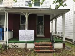 BMZA notice sign, Duplex house, 3119 Barclay Street, Baltimore, MD 21218