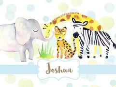 Watercolor Animals - Jungle