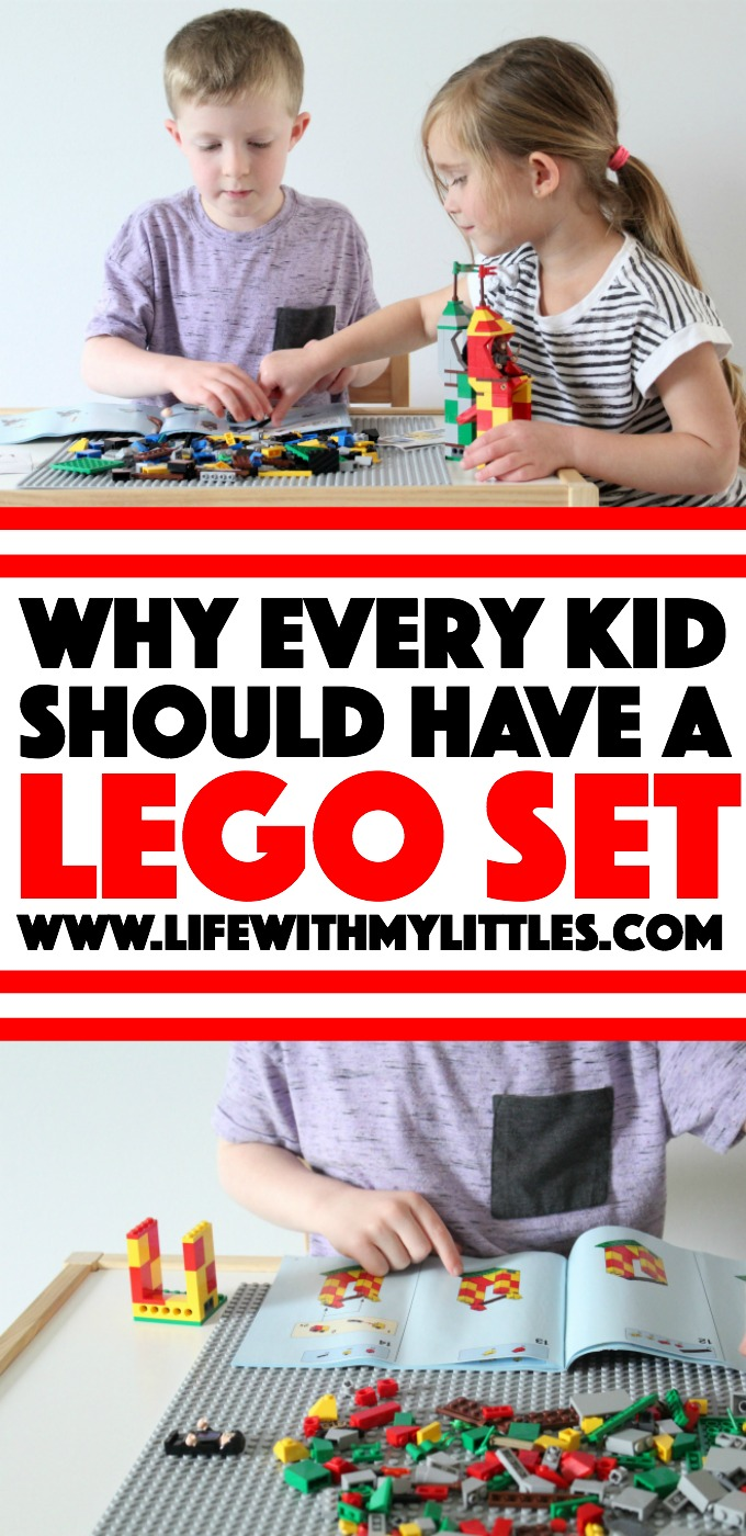 If you're not sold on the world of LEGO yet, here's a great post about why every kid should have a LEGO set! Seven reasons why your child (and you!) will love them!