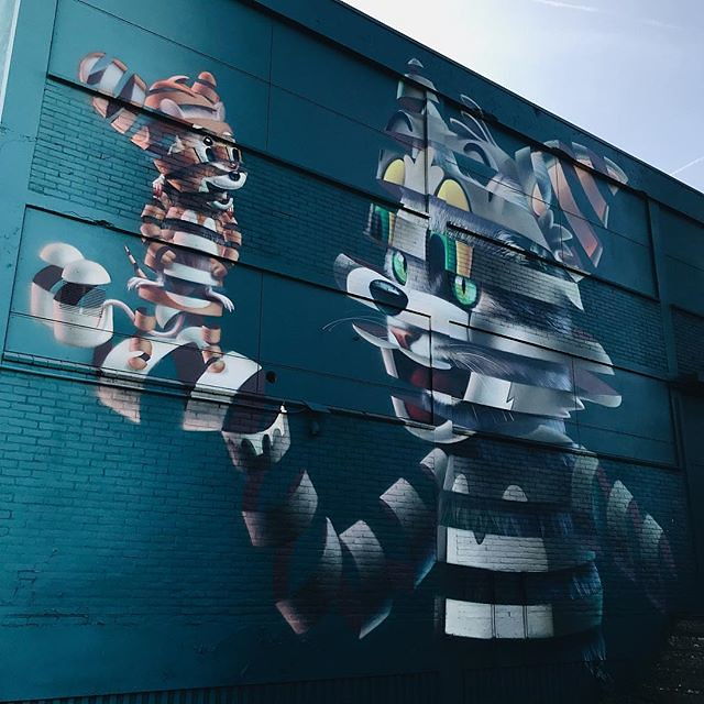 #streetart #powwow #rotterdam #igrotterdam #rotterdamcity #netherlands #art #wall #colours #shotoniphone #blue #sky #vsco #vscocam #wanderlust #travel #citytrip #streetartistry #visitrotterdam #ignetherlands #festival
