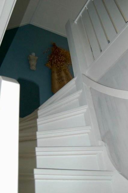 Witte trap hop kandelaar linnen zak