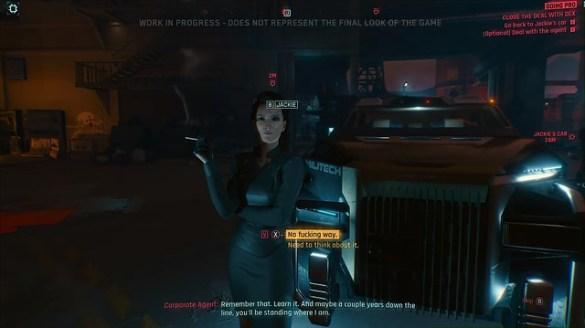 Cyberpunk 2077 - Dialogue Choices Agent