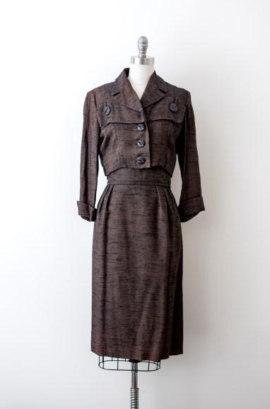 1940's Vintage Brown Suit set by Paul Sachs