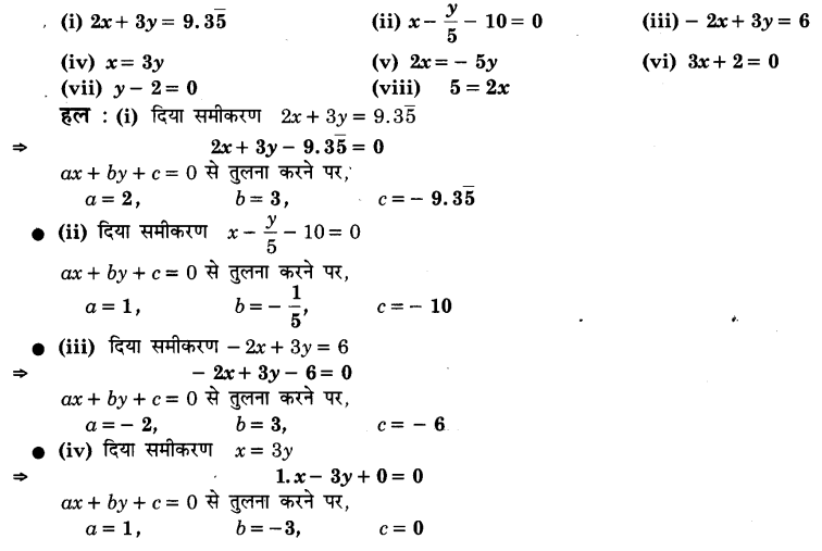 UP Board Solutions for Class 9 Maths Chapter 4 Linear Equations in Two Variables (दो चरों में रैखिक समीकरण)