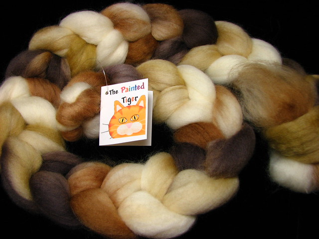 S'More, Please - August 2018 Tiger Club - Superwash Corriedale Wool Combed Top