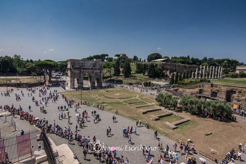 Vistas desde Coliseo romano