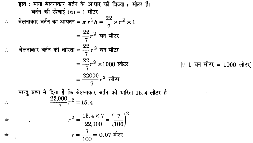 UP Board Solutions for Class 9 Maths Chapter 13 Surface Areas and Volumes 13.6 6