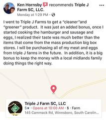 Thanks for the recommendation Ken! #cleanfood #farmtotable #localfood #triplejfarmsc #homestead