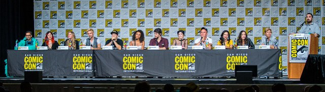 Adam Tsekhman, Keto Shimizu, Jes Macallan, Matt Ryan, Nick Zano, Maisie Richardson-Sellers, Brandon Routh, Caity Lotz, Dominic Purcell, Tala Ashe, Courtney Ford and Phil Klemmer with Moderator Jim Viscardi